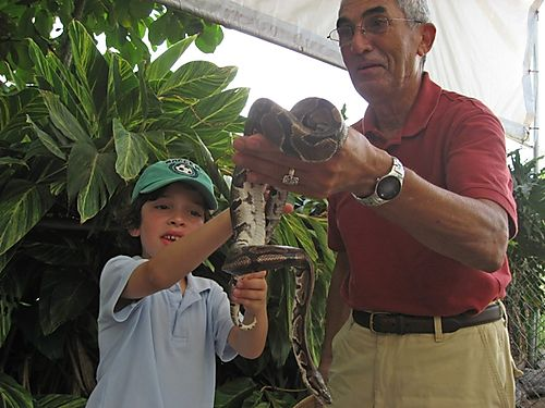 Dad & C with snake