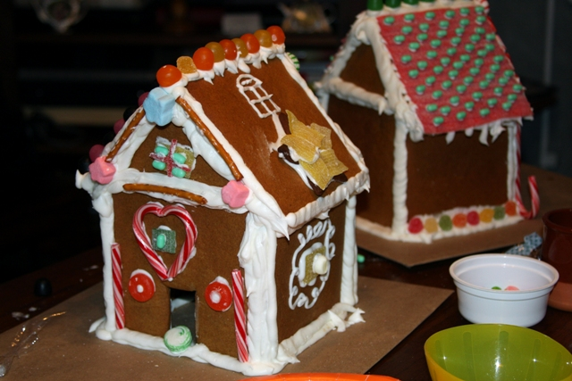 C's Gingerbread house