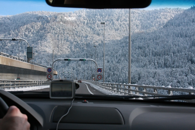 The drive to Chamonix
