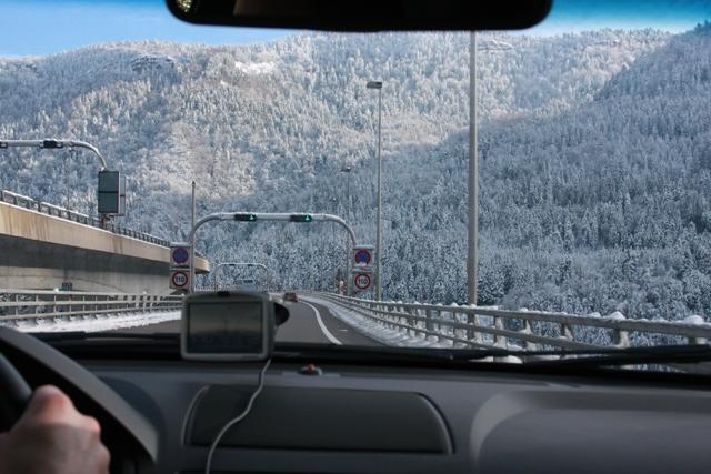 The drive to Chamonix