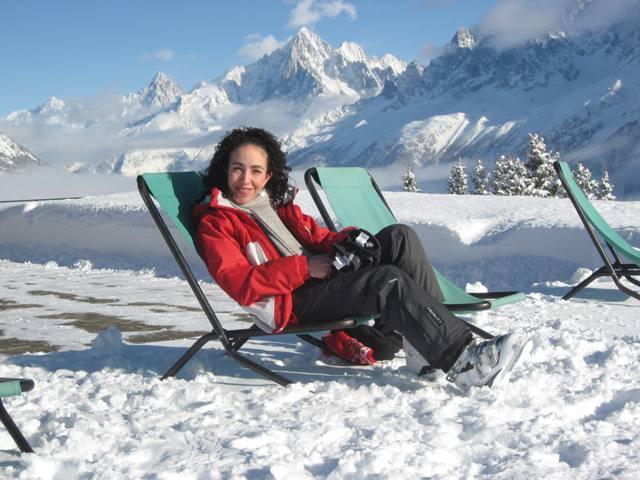 Relaxing near Mt. Blanc