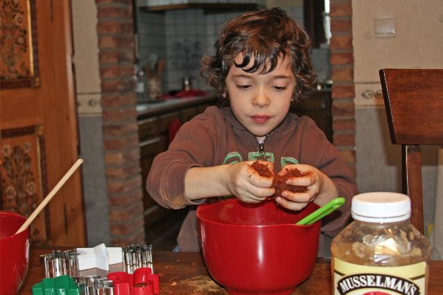 Mixing Cinnamon Dough