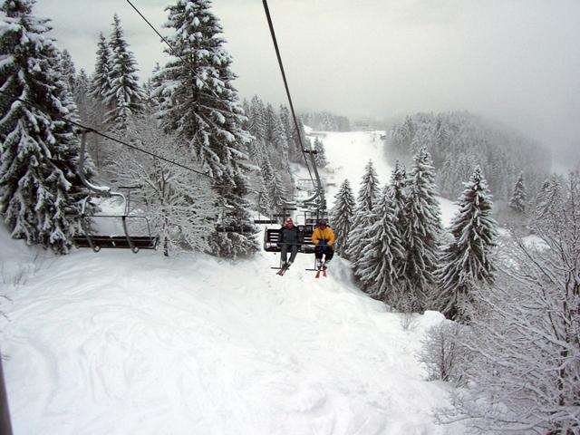 R & B on ski lift