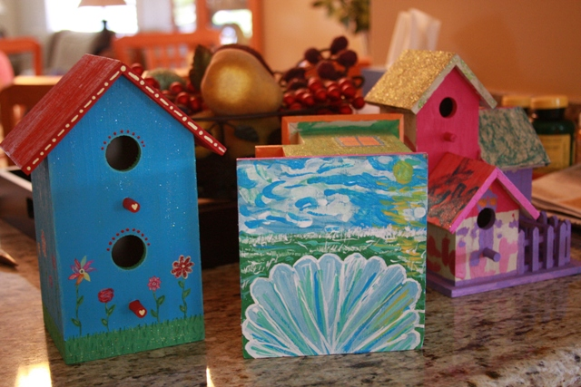 Finished Birdhouses II