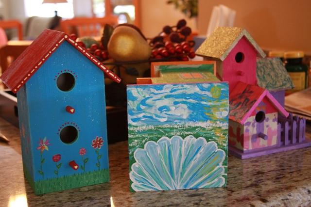 Finished Birdhouses II