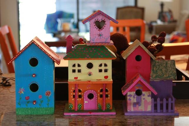 Finished Birdhouses