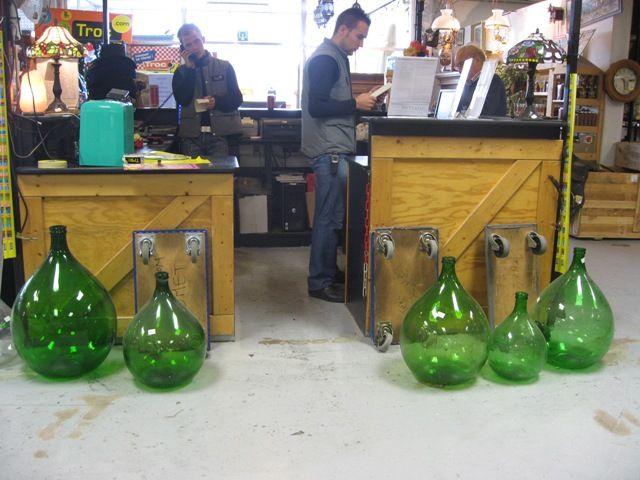 Oversized Wine bottles
