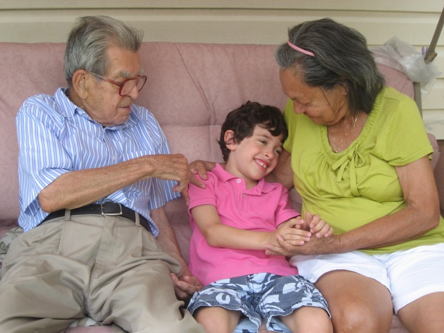C with Great Grandparents