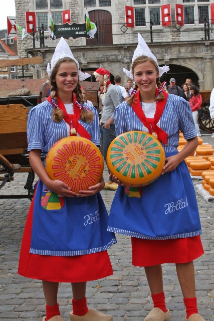 Traditionally Dressed Dutch Girls
