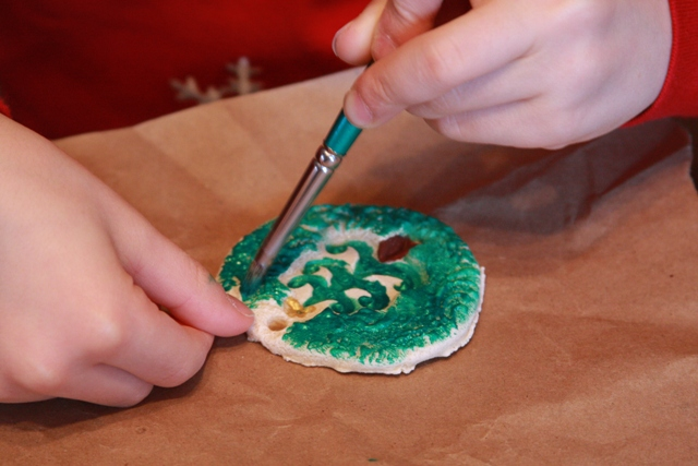 Painting Salt Dough Ornaments