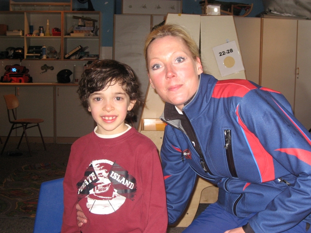 C with his ski instructor