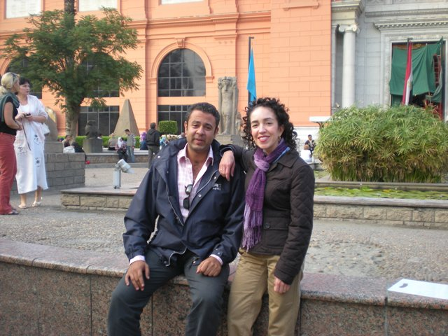 Ibrahim & I at the Egyptian Museum