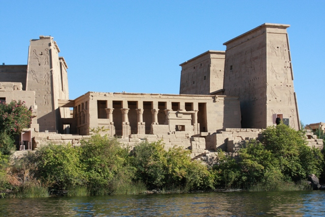 Side View of Philae temple
