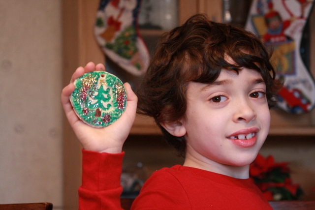 C & his Christmas ornament