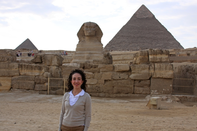 Me in front of the Sphinx