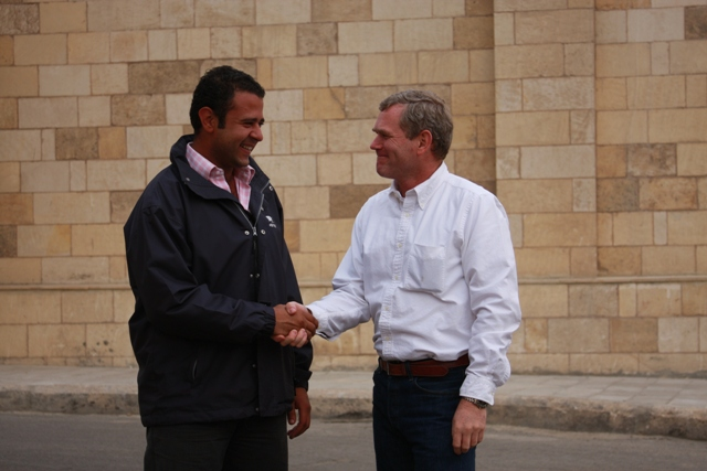 Ibrahim with Mr. President Bush