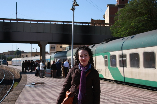 Me at the Aswan train station