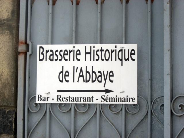 La Brasserie de l'Abbaye du Cateau Sign