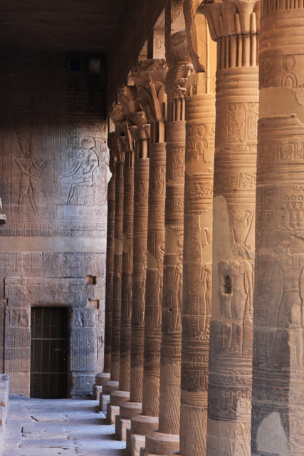Columns with Hieroglyphics