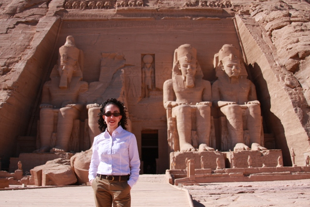 In front of Abu Simbel