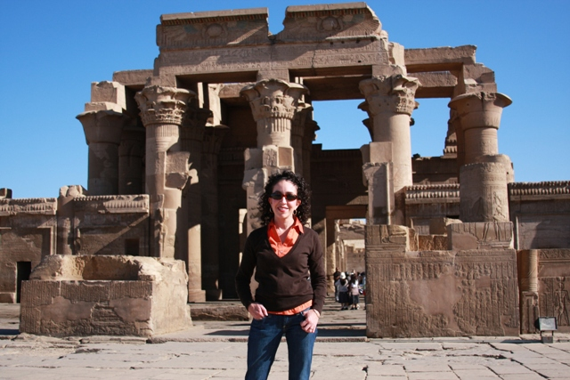 Me in front of temple Kom Ombo