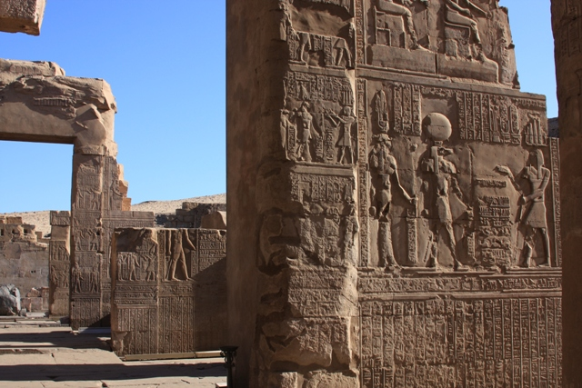 Inside the temple of Kom Ombo