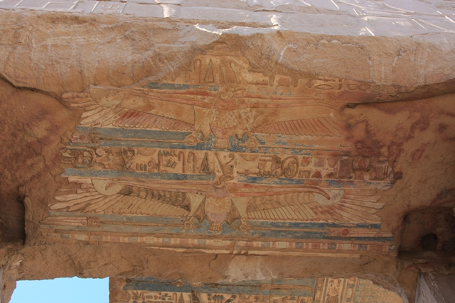 Falcons on ceiling - Kom Ombo