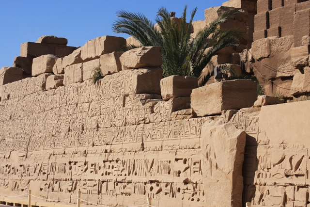 Wall with Hieroglyphics - Karnak