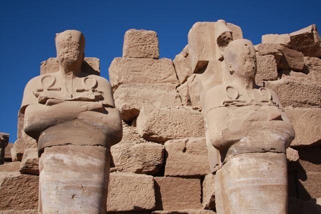 Statues in Karnak