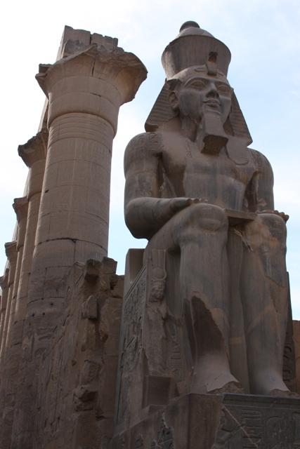 Egyptian Statue near columns