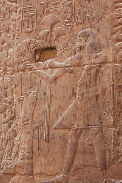 Hieroglyphics at Luxor Temple