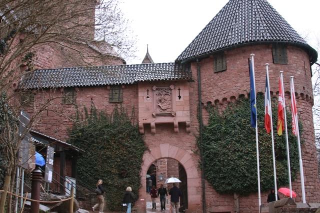 Entrance to Château du Haut-Koenigsbourg