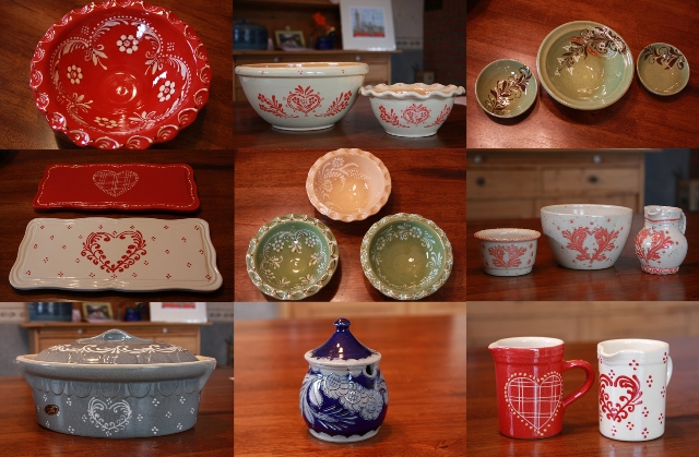 Collection of Alsatian pottery