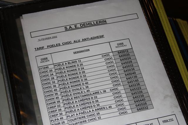E. Dehillerin Price List Book