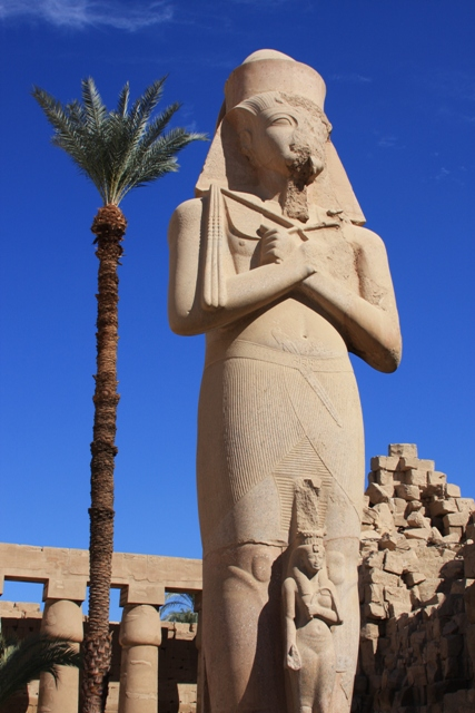 Large statue at Karnak Temple