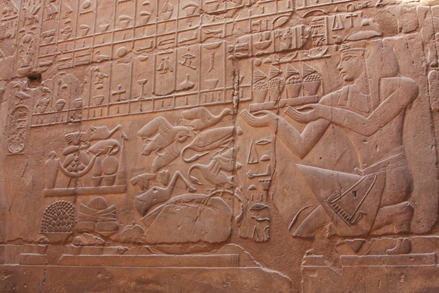 Hieroglyphics at Luxor