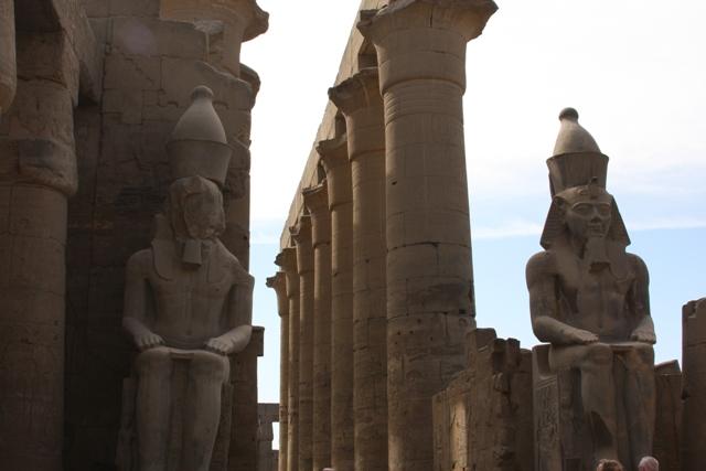 Large statue near columns