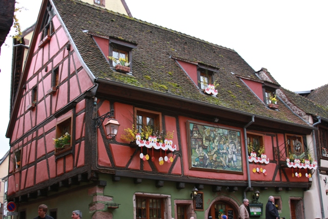 Half timbered house in Riquewihr