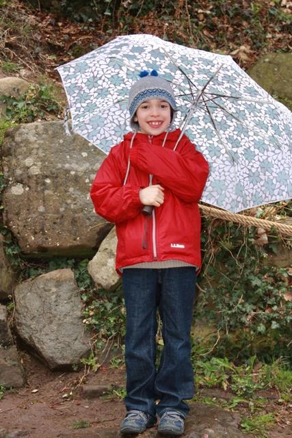 Lil C in the Rain