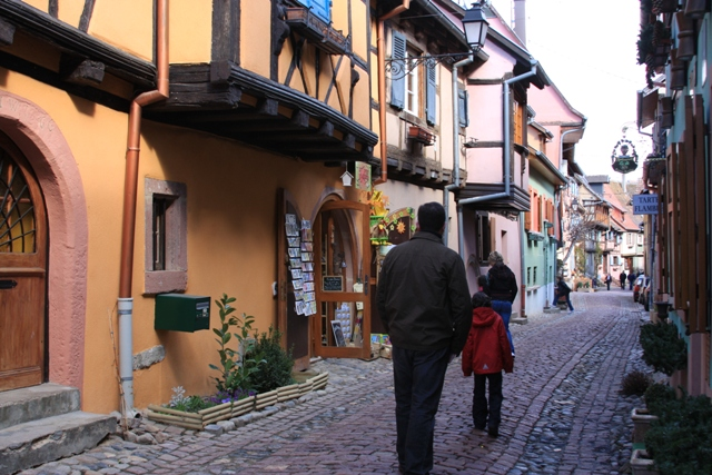 Walking around Eguisheim