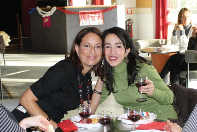 Crafty Grrrl & I at the Beaujolais Noveau event