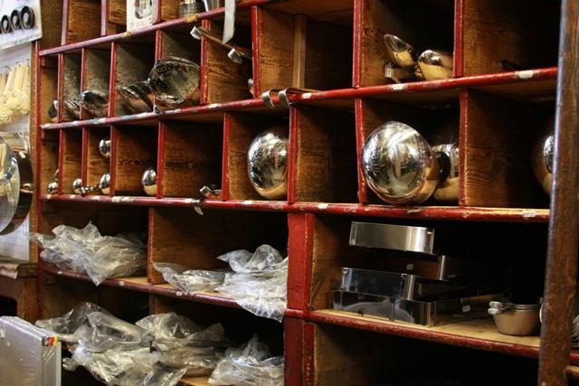 Shelves at E. Dehillerin
