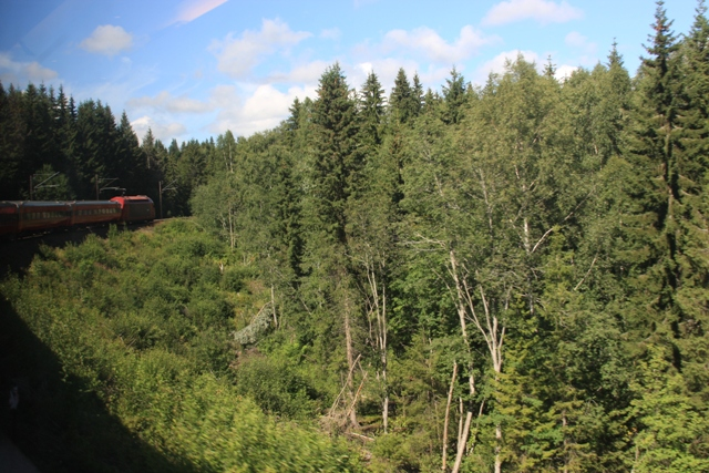 Our train to Bergen