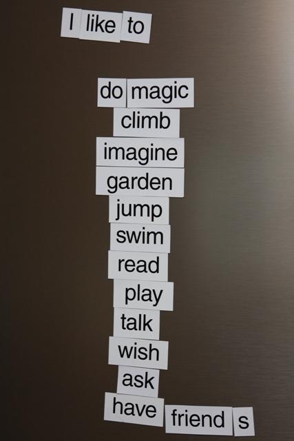 Words for our Fridg