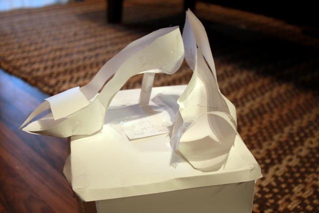 Paper high heels