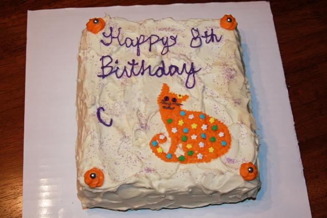 Orange Cat Birthday Cake