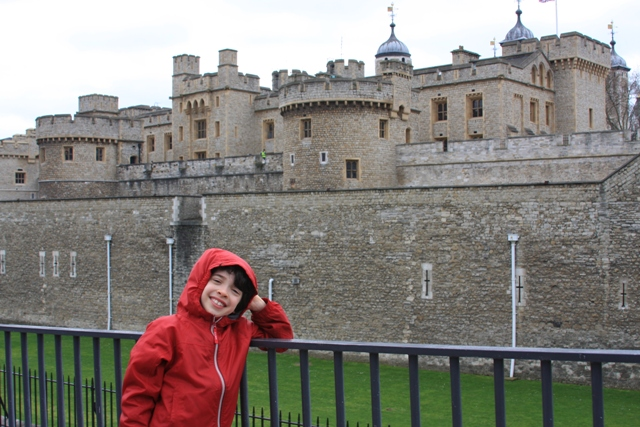 C in front of Tower of London