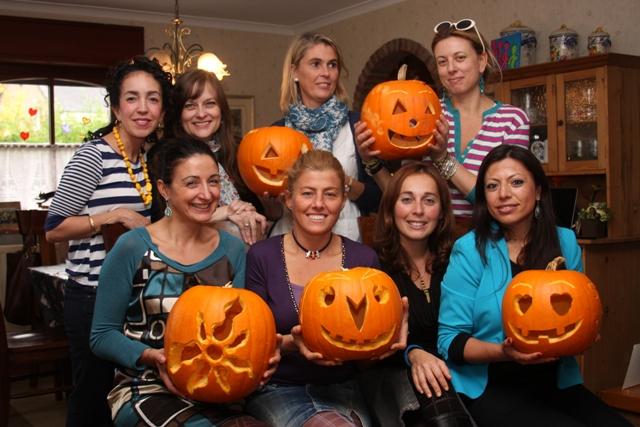 Group's carved pumpkins